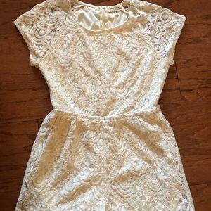 Monteau White Lace Romper